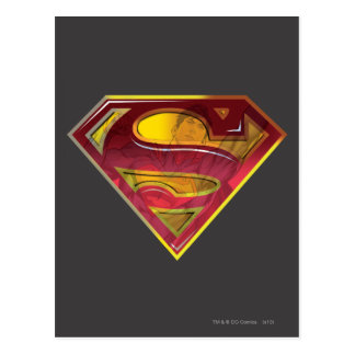 Supermann S-Schild | Reflexions-Logo Postkarte