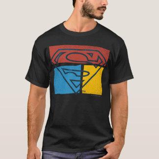 Supermann S-Schild   rotes blaues gelbes T-Shirt