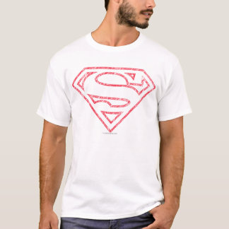 Supermann S-Schild   rotes Kontur-Logo T-Shirt