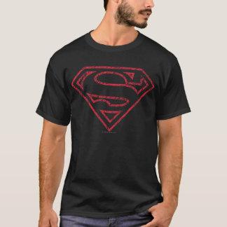 Supermann S-Schild | rotes Kontur-Logo T-Shirt