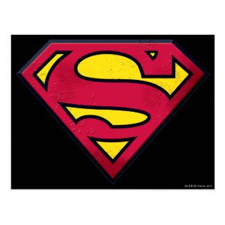 Supermann S-Schild | Schmutz-Logo Postkarte