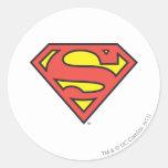 Supermann S-Schild | Supermann-Logo Runder Aufkleber