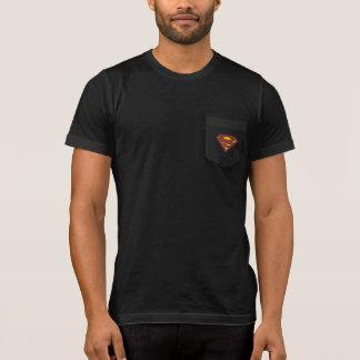 Supermann S-Schild   verblaßtes Punkt-Logo T-Shirt