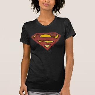 Supermann S-Schild | verblaßtes Punkt-Logo T-Shirt