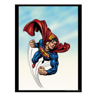 Supermann schnell durch die Luft Postkarte