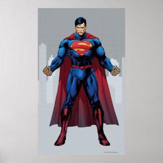 Supermann stehend poster