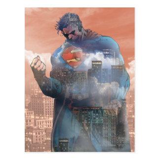Supermann stehend postkarte