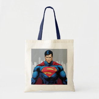 Supermann stehend leinentasche