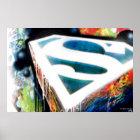 Supermann-stilisiertes | städtisches Graffiti-Logo Poster
