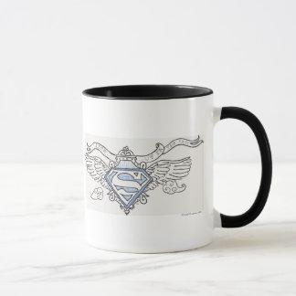 Supermann Stylized | blaues Kontur-Flügel-Logo Tasse