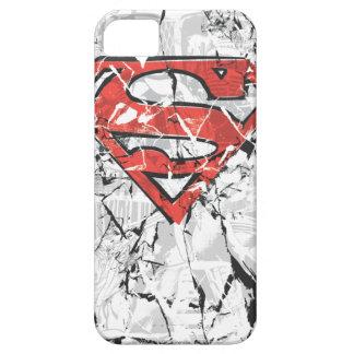 Supermann Stylized | zerknittertes Comic-Logo iPhone 5 Schutzhülle