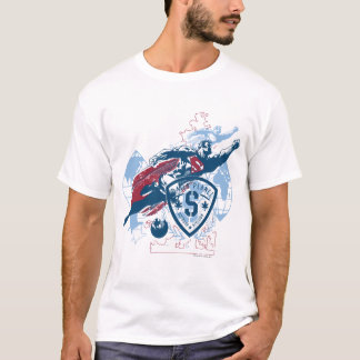 Supermann und Karte T-Shirt