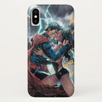 Supermann-/Wunder-Frauen-Comic-fördernde Kunst iPhone X Hülle