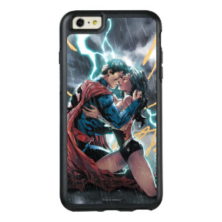 Supermann-/Wunder-Frauen-Comic-fördernde Kunst OtterBox iPhone 6/6s Plus Hülle