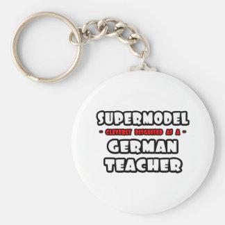 Supermodel. Deutscher Lehrer Schlüsselanhänger
