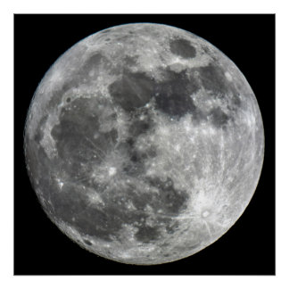 Supermoon Mond-Plakat Poster