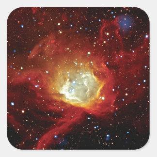 Supernova-Rest die NASA-Raum-Foto 1062 des Quadratischer Aufkleber