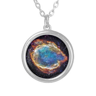 Supernova-Rest G299.2-2.9 die NASA-Raum-Foto Versilberte Kette