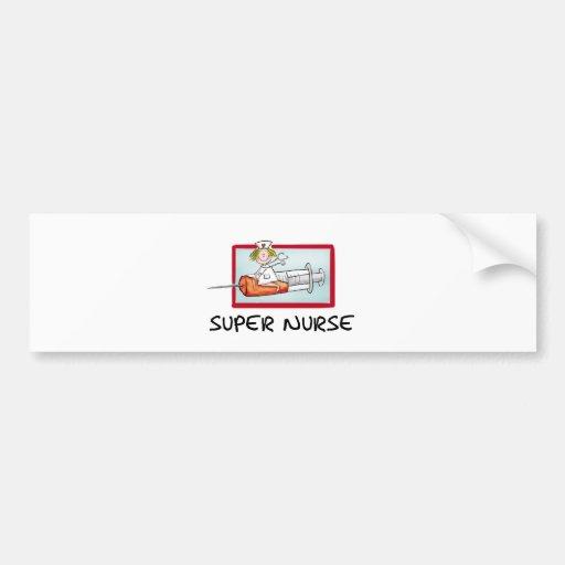 supernurse - humorvolle Cartoon-Krankenschwester a Auto Sticker