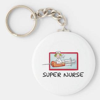 supernurse - humorvolle Cartoon-Krankenschwester a Schlüsselbänder