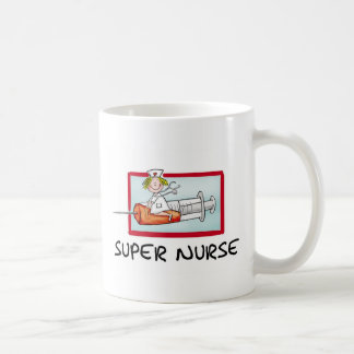 supernurse - humorvolle Cartoon-Krankenschwester Kaffeetasse