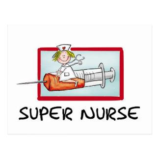 supernurse - humorvolle Cartoon-Krankenschwester Postkarte