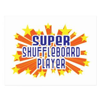 Supershuffleboard-Spieler Postkarte