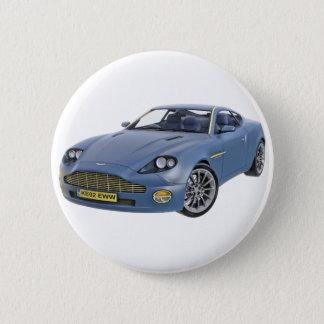 Superspions-Auto im Blau Runder Button 5,7 Cm