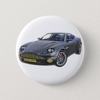 Superspions-Auto im Schwarzen Runder Button 5,7 Cm