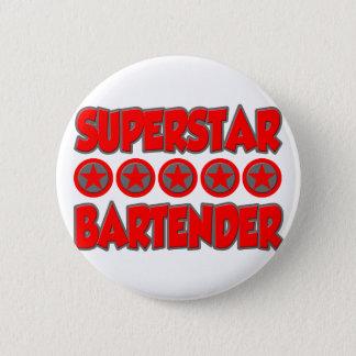 Superstar-Barkeeper Runder Button 5,1 Cm