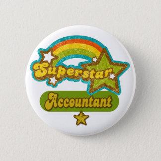 Superstar-Buchhalter Runder Button 5,1 Cm