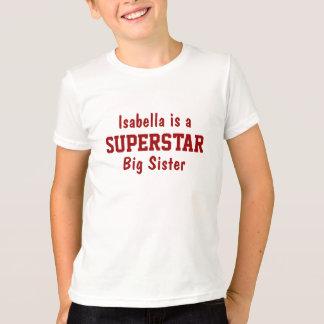 Superstar-große Schwester-personalisierter T - T-Shirt