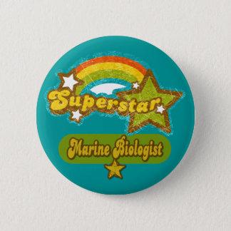 Superstar-Marinebiologe Runder Button 5,7 Cm