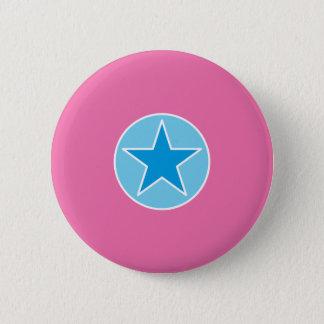Superstar-Rosa und Blau Runder Button 5,1 Cm