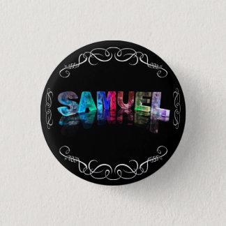 Superstar Samuel - Name in den Lichtern Runder Button 2,5 Cm