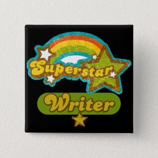 Superstar-Verfasser Quadratischer Button 5,1 Cm