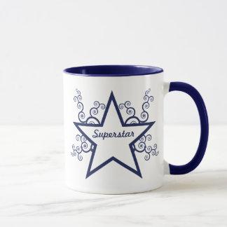 Superstar-Wirbels-Tasse, dunkelblau Tasse