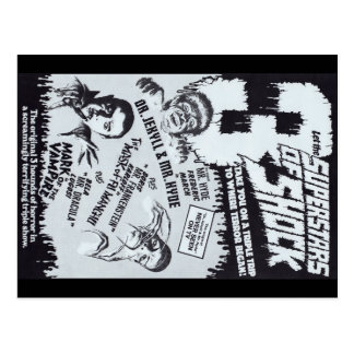 Superstars der SCHOCK-Postkarte Postkarte
