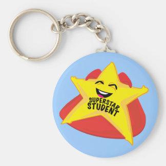 Superstarstudent lustiges keychain schlüsselanhänger