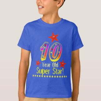 Superstern-10. Geburtstags-Shirt für Jungen T-Shirt