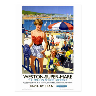 Superstuten-Vintages Reise-Plakat Englands Weston Postkarte