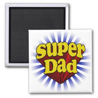Supervati, Superheld rot/Gelb/Blau Quadratischer Magnet