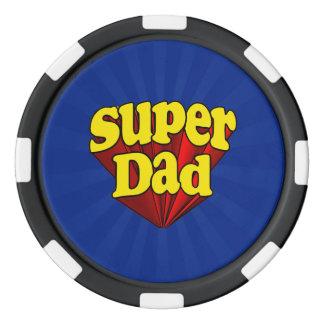 Supervati, Superheld rot/Gelb/der blaue Vatertag Poker Chips