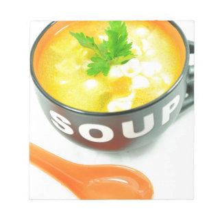 Suppe Notizblock