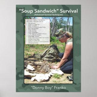 Suppen-Sandwich-Plakat Poster