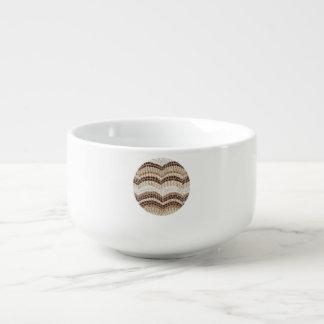 Suppen-Tasse mit beige Mosaik Große Suppentasse