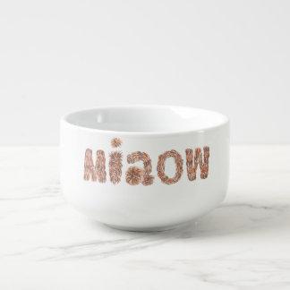 Suppen-Tasse mit 'miaow Große Suppentasse