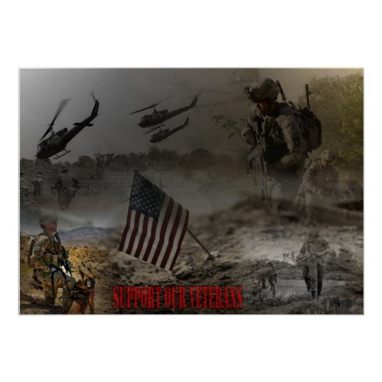 Support our US Veterans Poster