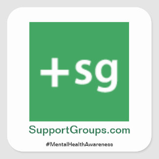 SupportGroups.com #MentalHealthAwareness Quadratischer Aufkleber