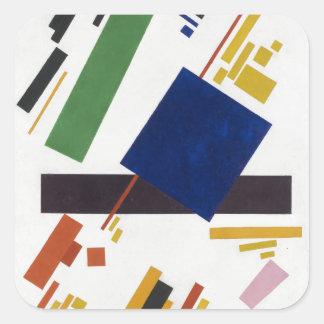 Suprematist Zusammensetzung durch Kazimir Malevich Quadratischer Aufkleber